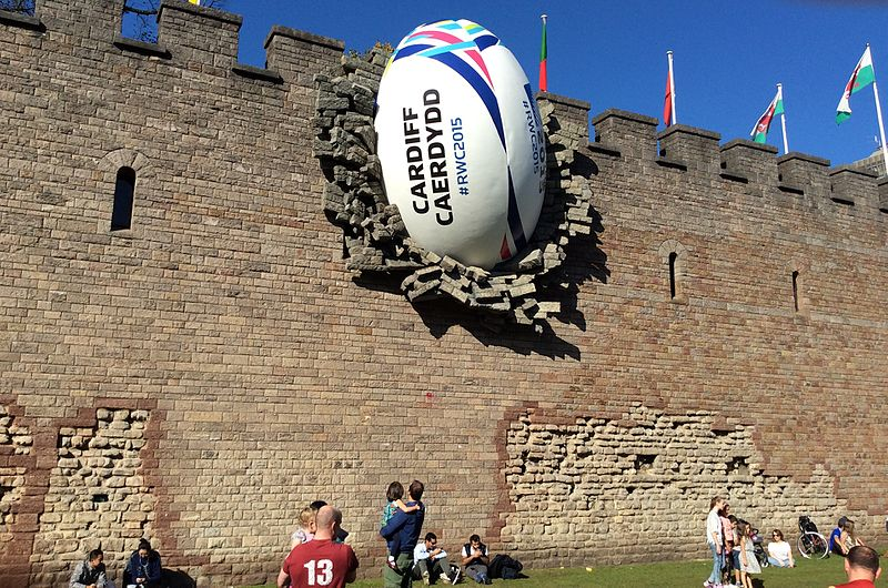 2015_World_Cup_-_Rugby_ball_at_Cardiff_Castle