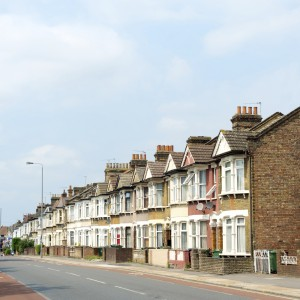 This image shows some Row Homes, in London, England
