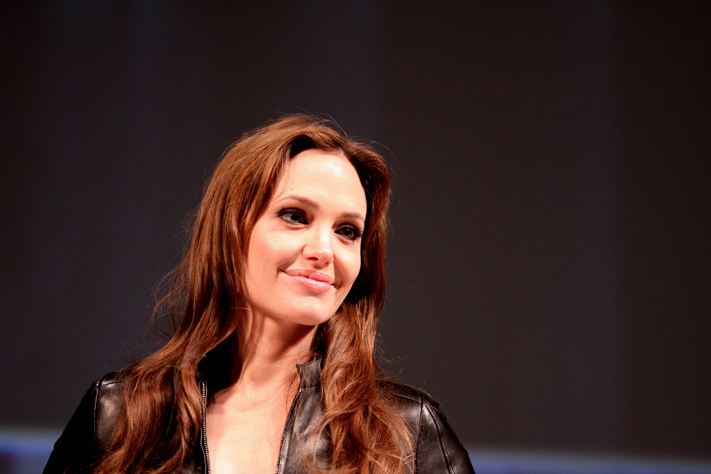 Angelina Jolie gives lecture to LSE students