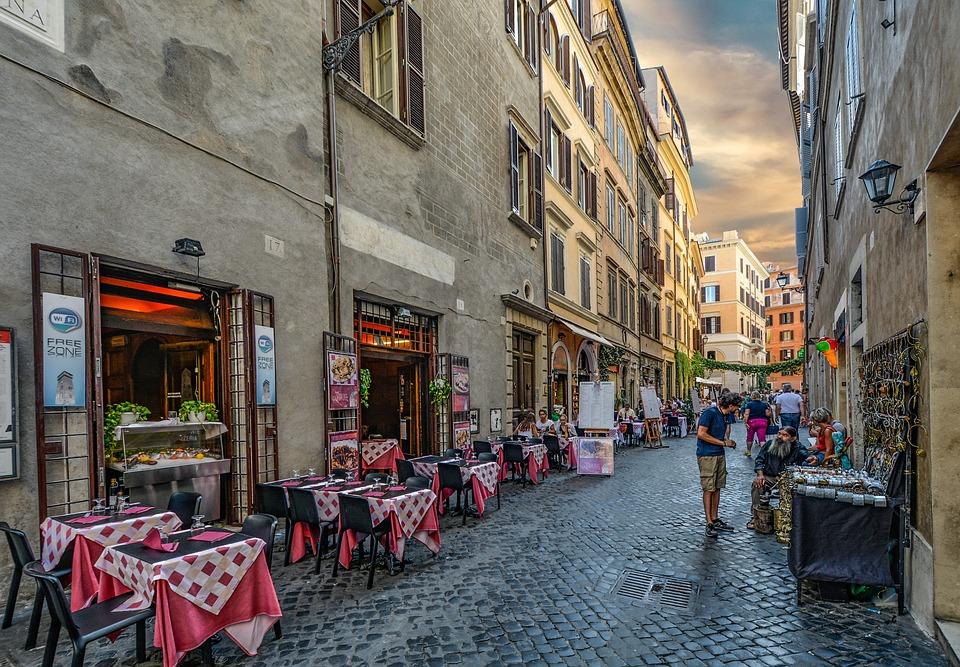 Roma Italy Cafe Italian Rome Old Restaurant