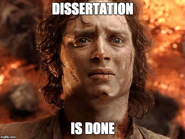 What not to write on your dissertation hand-in status