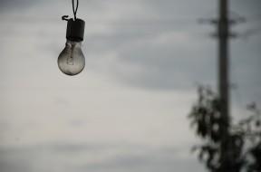 Light Bulb Cloudy Sky Depression Grey