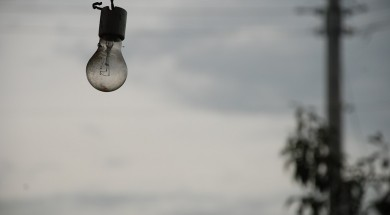 Light Bulb Cloudy Sky Depression Grey