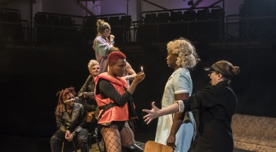 JUBILEE by Goode,      , ADAPTED FOR THE STAGE BY CHRIS GOODE , THE ORIGINAL SCREENPLAY BY DEREK JARMAN AND JAMES WHALEY. Director - Chris Goode, DESIGNER - Chloe Lamford,  Royal Exchange Theatre, 2017, Credit: Johan Persson/