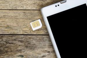 smart phone use with micro sim card, black screen